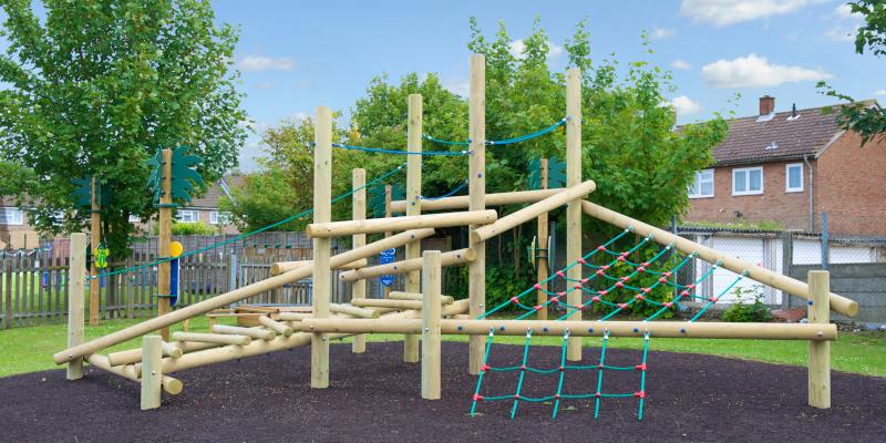 climbing public playground equipment